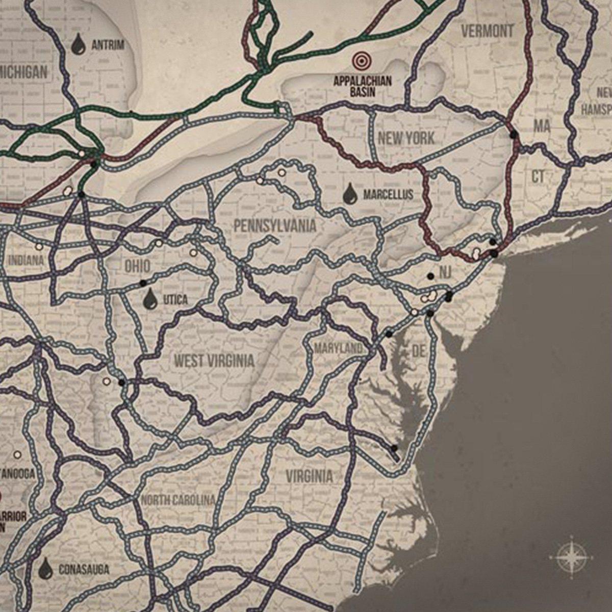 Oklahoma Railroad Map Shale Oil Plays Map Shale Maps Pro
